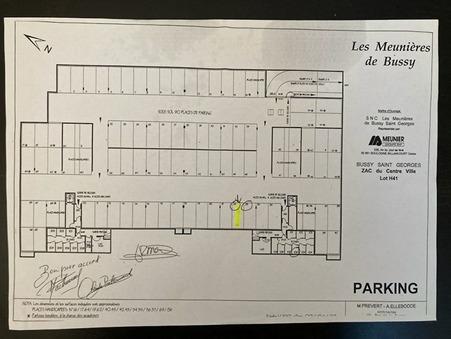 vente parking / box Bussy-saint-georges