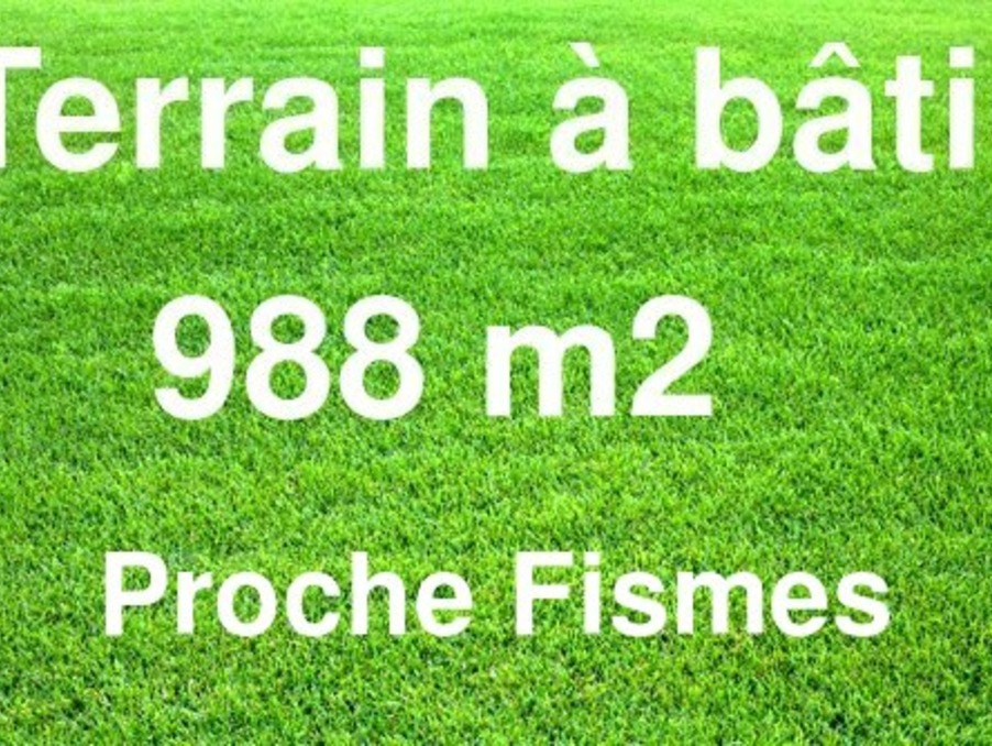 Vente Terrain  FISMES 35 500 €